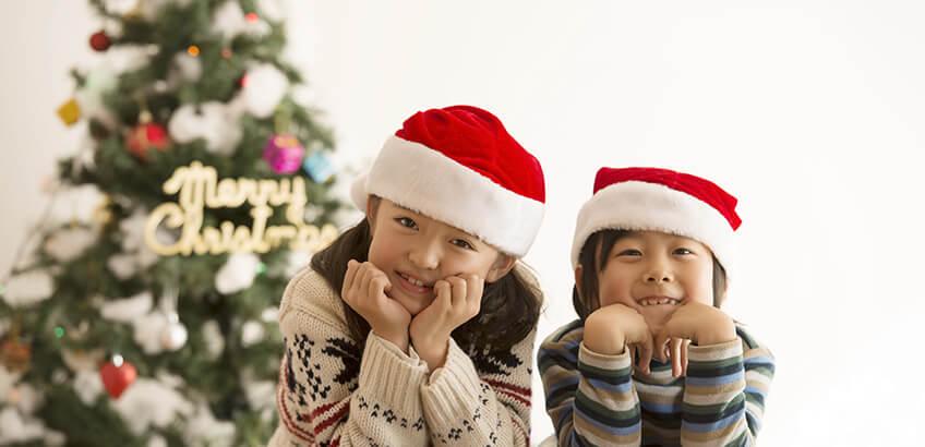 楽しいクリスマスはフォトスタジオで記念写真を撮ろう!