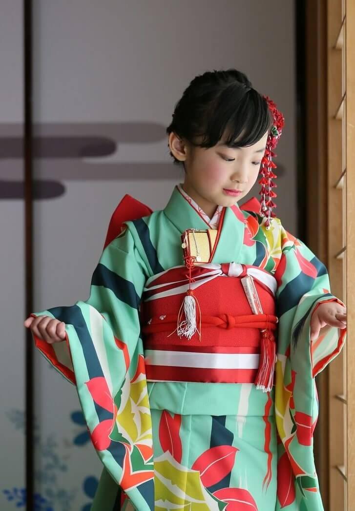 7歳着物着用イメージ