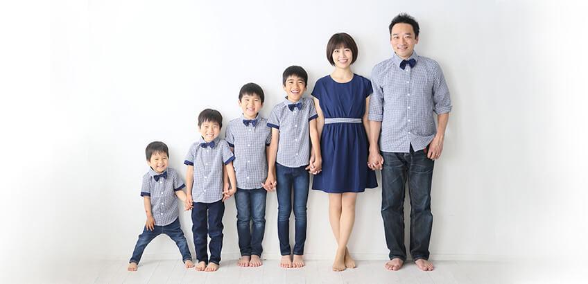 ご家族全員が入った記念写真が撮れる